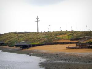 D-Day Landing Beaches - Juno Beach and the Lorraine cross in Courseulles-sur-Mer
