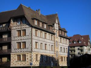 Deauville - Côte Fleurie (Flower coast): half-timbered residences of the seaside resort