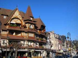 Deauville - Côte Fleurie (Flower coast): villas and shops of the seaside resort