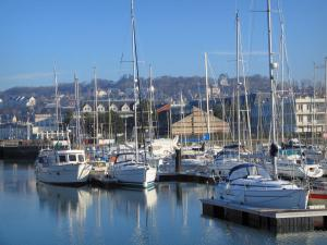 Deauville - Côte Fleurie (Flower coast): boats and sailboats in the port