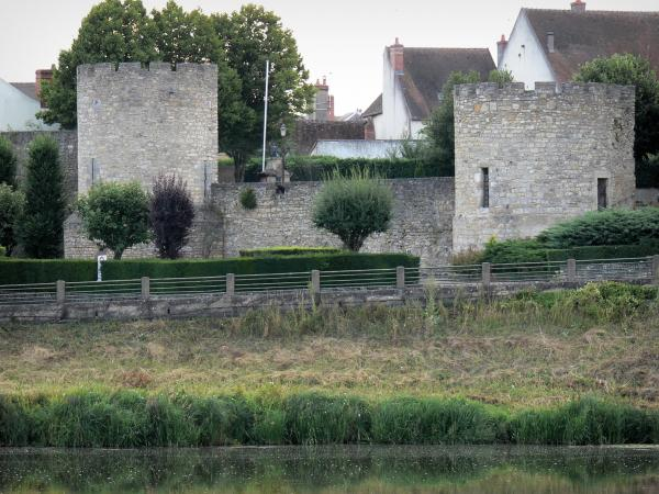Decize - Towers of the ramparts on the banks of River Loire
