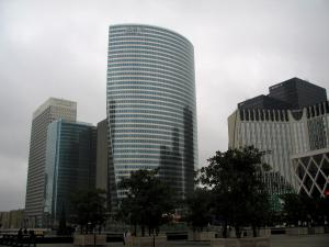 La Défense - Towers, buildings and square with its trees