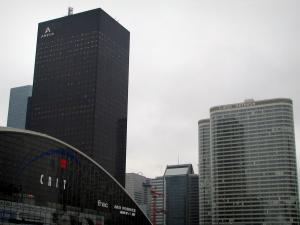 La Défense - The CNIT building, towers and buildings