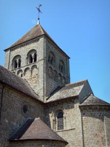 Domfront - Tower of the Romanesque Notre-Dame-sur-l'Eau church