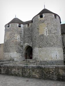 Dourdan - Feudal castle: fortified gatehouse with its two towers