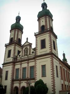 Ebersmunster - Abbey church with three bulb bell towers