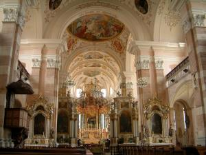 Ebersmunster - Baroque interior of the abbey church