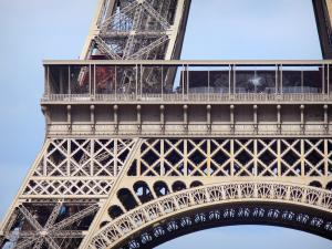 Eiffel tower - View of the first floor of the Eiffel tower