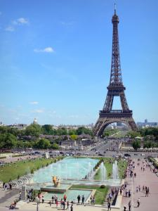 Eiffel tower - View of the Eiffel tower from the Trocadéro gardens