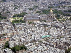 Eiffel tower - Panorama of Paris and the Invalides from the top of the tower