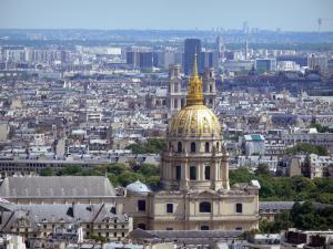 Eiffel tower - View of Paris and the Invalides from the second floor