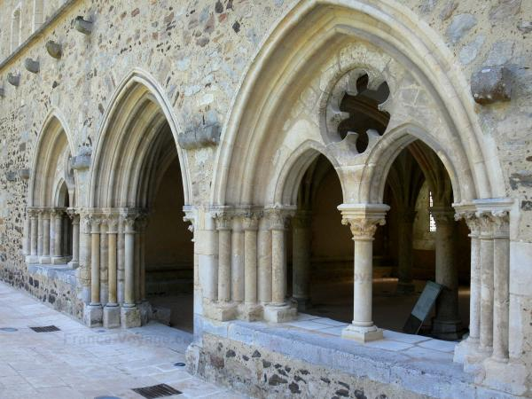 L'Épau abbey - Old Cistercian abbey of La Piété-Dieu, in Yvré-l'Évêque: entrance to the chapter house