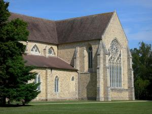 L'Épau abbey - Old Cistercian abbey of La Piété-Dieu, in Yvré-l'Évêque: flat apse of the abbey church