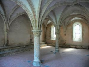 L'Épau abbey - Old Cistercian abbey of La Piété-Dieu, in Yvré-l'Évêque: chapter house
