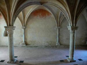 L'Épau abbey - Old Cistercian abbey of La Piété-Dieu, in Yvré-l'Évêque: vestry