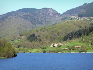 Eyrieux valley - Eyrium aquatic base on the Collanges lake, in the town of Nonières, in the Regional Natural Park of the Ardèche Mountains