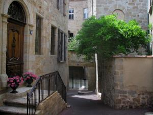 Figeac - Houses of the old town, in the Quercy