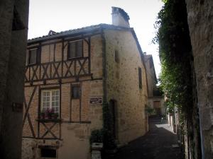 Figeac - Half-timbered house in the old town, in the Quercy