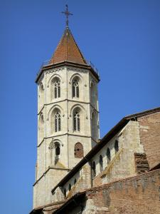 Fleurance - Octagonal bell tower of the Saint-Laurent church