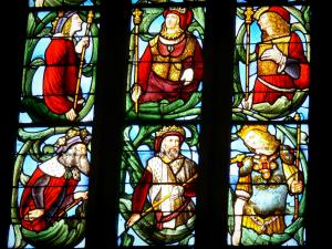 Fleurance - Inside the Saint-Laurent church: stained glass window
