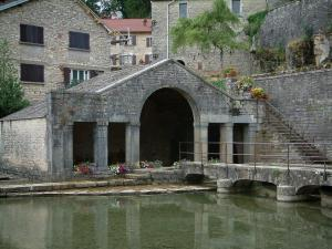 Fondremand - Romain spring: washhouse with its circular washbasin (fountain-washhouse)