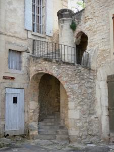 Forcalquier - Stair and houses of the old town