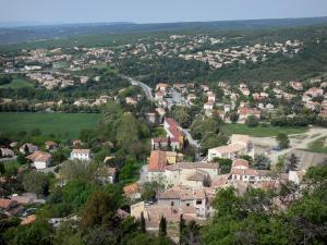 Forcalquier - From the citadel, view of the city and the surrounding landscapes