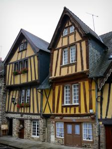 Fougères - Timber-framed houses of the Marchix square, medieval district