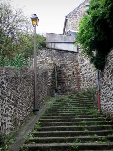 Fougères - Stair and lamppost