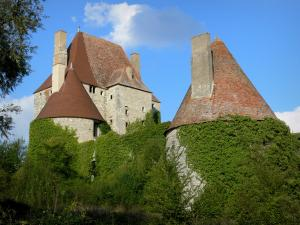 Fourchaud castle - Keep and towers of the medieval fortress; in the town of Besson