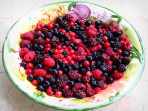 Fruits rouges - Fruits rouges dans un saladier