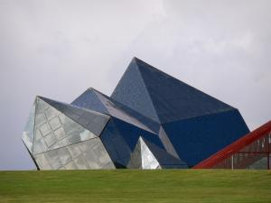 Futuroscope theme park - Kinemax (building with a futuristic architecture)