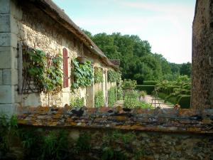 Gardens of the Notre-Dame d'Orsan priory - Ancient monastery and its garden of medieval style