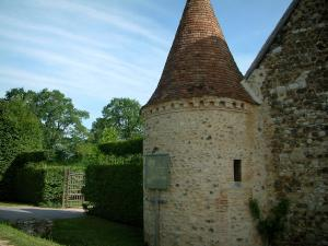 Gardens of the Notre-Dame d'Orsan priory - Outside view of the ancient priory (monastery)