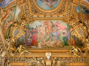 Garnier opera - Paintings and gilding of the great hall