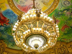Garnier opera - Theater: big chandelier and Chagall ceiling