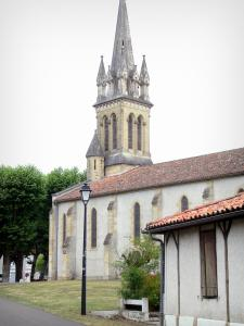 Gascon Landes Regional Nature Park - Bell tower of the Saint-Jean-Baptiste church of Luxey