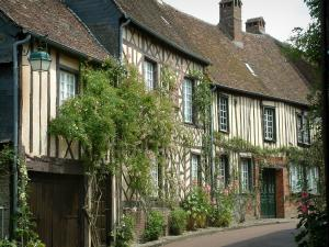 Gerberoy - Half-timbered houses, creepers and flowers