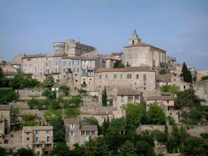 Gordes - Houses, church and castle of the village