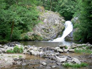 Gouloux waterfall - Caillot waterfall in a greenery setting; in the Morvan Regional Nature Park