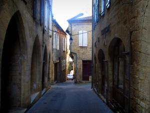 Gourdon - Houses of the Majou street, in Bouriane, in the Quercy