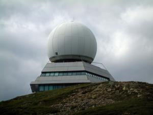 Grand Ballon - Big white ball (radar) situated at the top of the Grand Ballon (Ballons des Vosges Regional Nature Park)