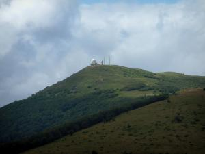 Grand Ballon - Peak of the mountain with the big white ball (radar) and the Diables Bleus (Blue Devils) monument (Ballons des Vosges Regional Nature Park)