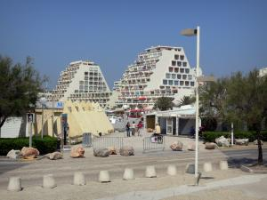 La Grande-Motte - Seaside resort and its pyramid-shaped buildings