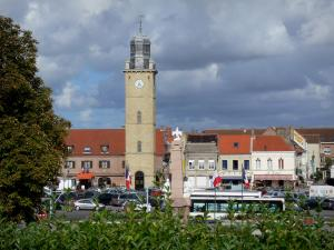 Gravelines - Bell tower and houses of the fortified city