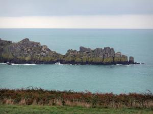 Grouin headland - Grassland, vegetation, cliffs and sea