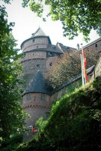 Haut-Koenigsbourg castle - Fortress with its tower and its big bastion