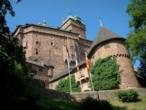 Haut-Koenigsbourg castle - Fortress and trees