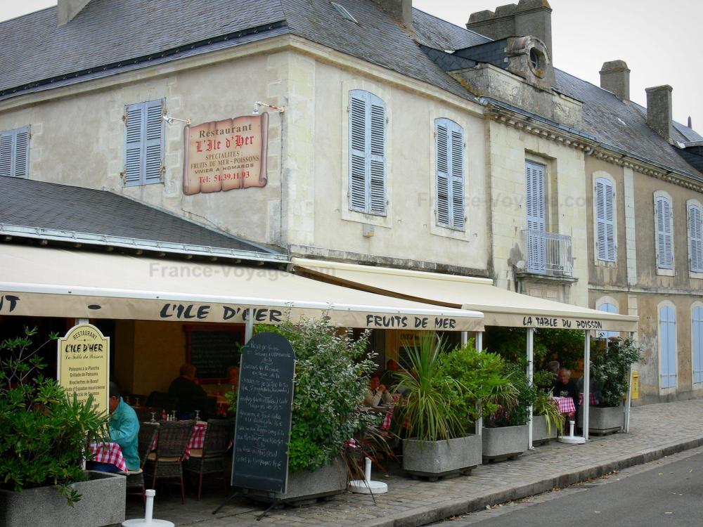 Foto 39 s het eiland van noirmoutier gids toerisme recreatie for Lay outs terras van het restaurant