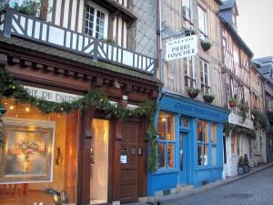 Honfleur - Timber-framed houses and art galleries